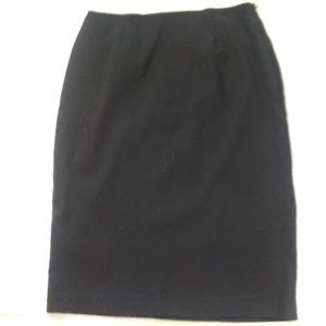 Womens Black Pencil Skirt